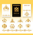 ethnic corporate brochure template vector image vector image