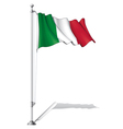 Flag Pole Italy vector image vector image