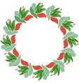 floral circle frame scandinavian style vector image