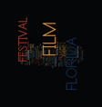florida film festival text background word cloud vector image vector image