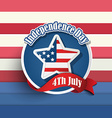 fourth july american independence day badges vector image