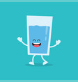 funny glass of water vector image