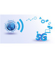 global network futuristicinternet things vector image vector image