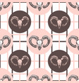 goat skulls hipster pattern hand drawn fashion vector image