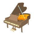 Grand piano icon isometric style vector image vector image