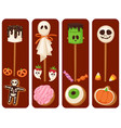 halloween cookie food cards night cake party vector image