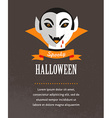 Halloween cute poster with Dracula vector image