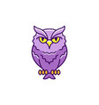 halloween owl icon eagle-owl thin line art vector image