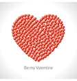 Heart shape of hearts Valentine vector image vector image