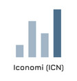 iconomi icn crypto coin ic vector image vector image