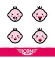 kid emotion icon vector image vector image