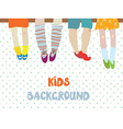 Kids background for kindergarten banner or card vector image