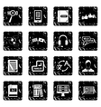 Learning foreign languages icons set simple style vector image vector image