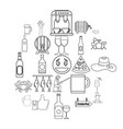 live beer icons set outline style vector image vector image