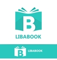 logo combination a book and letter b vector image