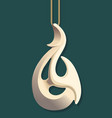 maori bone carving vector image vector image