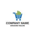 market shop logo financial shopping logo market vector image