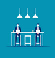 office people in coffee shop working together vector image