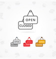 open and closed sign icon vector image vector image