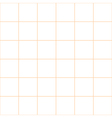 Orange Grid White Background vector image vector image