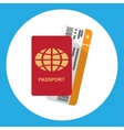 Passport and boarding pass vector image vector image