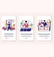 pawnshop mobile app onboarding screens vector image vector image