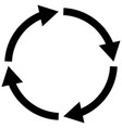Process symbol on white background four step