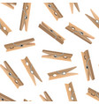 realistic detailed 3d wooden clothespins seamless vector image vector image
