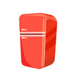 red refrigerator isolated icon vector image