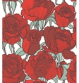 seamless colored background with red roses vector image vector image
