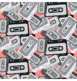 Seamless mix tape pattern 80s style vector image