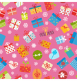 seamless pattern colorful gift boxes vector image