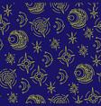 seamless pattern stars vector image vector image