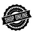 shop online rubber stamp vector image