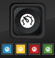 speed speedometer icon symbol Set of five colorful vector image