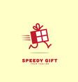speedy gift logo vector image vector image
