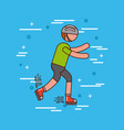 sports or exercise image vector image vector image