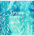 spring background with sketches plants vector image vector image