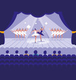 stage with show ballet scene vector image