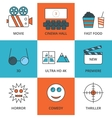 Stock Linear icon movie vector image vector image