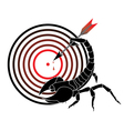 target and scorpion vector image