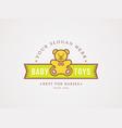 teddy bear logo symbol for baby toys store