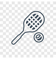 tennis player concept linear icon isolated on vector image vector image