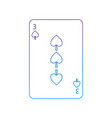 three of spades french playing cards related icon vector image vector image