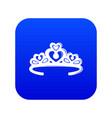 tiara crown icon blue vector image vector image