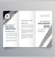 tri fold brochure template design with black vector image vector image