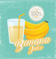 vintage fresh banana juice vector image vector image