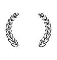wreath decorative symbol vector image