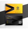 yellow and black modern business card design vector image vector image