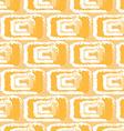 yellow pattern ikats vector image vector image